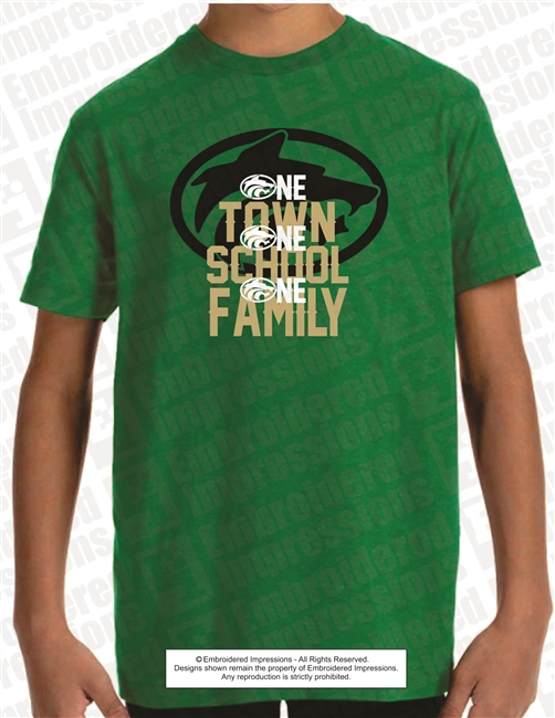 One Town One School One Family Tee