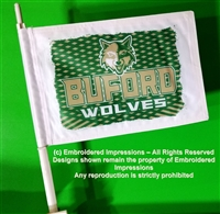 Buford Wolves Car Flag with Pole