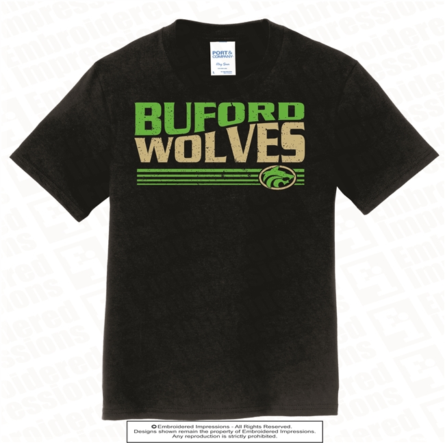 Buford Wolves with Lines Tee