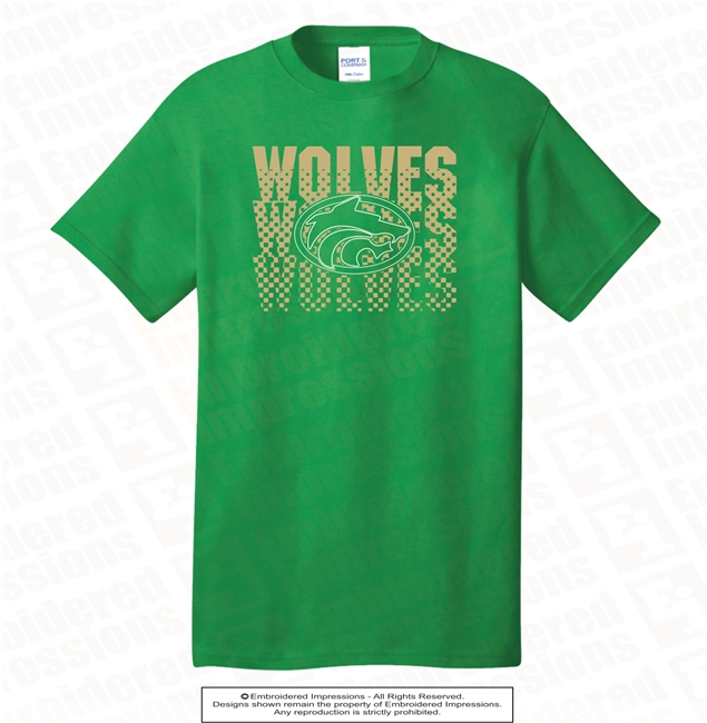 Wolves with Dot Pattern Tee