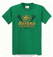 Buford Lacrosse Wolves Head Logo Tee