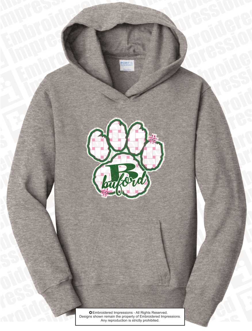 3bb73e65a Buford Wolves Basket Weave Paw Hoodie