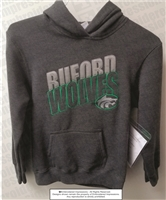 Buford Wolves Grey Applique Hoodie