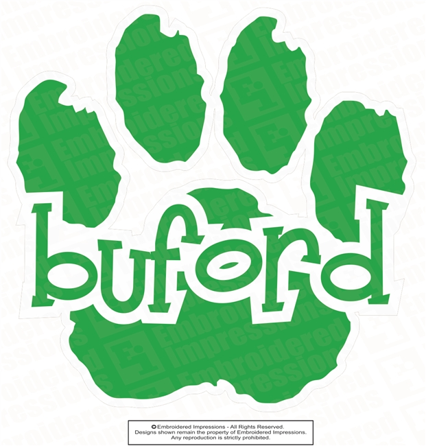 Buford Paw Sticker