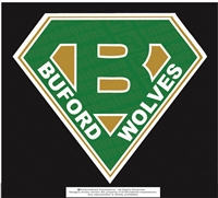 Buford Wolves Super B Solid Sticker