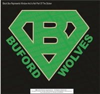 Large Buford Wolves Super B Sticker