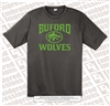 Buford Wolves Logo in High Viscosity Green Tee