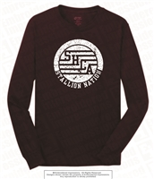 Stallions Nation Long Sleeves Tee in Athletic Maroon