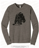 Bear with Arrow Unisex Fleece Raglan Sweatshirt