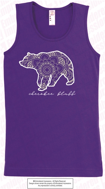 Ladies and Girls Bear Tank