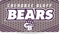 Cherokee Bluff Bears License Plate Cover