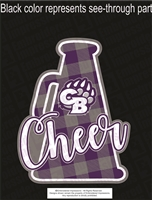 CB Bear Cheer Sticker