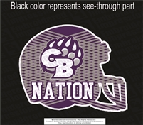 CB Bear Nation Helmet Sticker