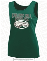 Glittered Collins Hill Eagles Training Tank