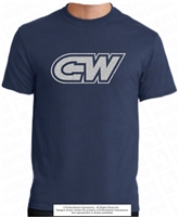 Glittered CW Cotton Poly Blend Tee
