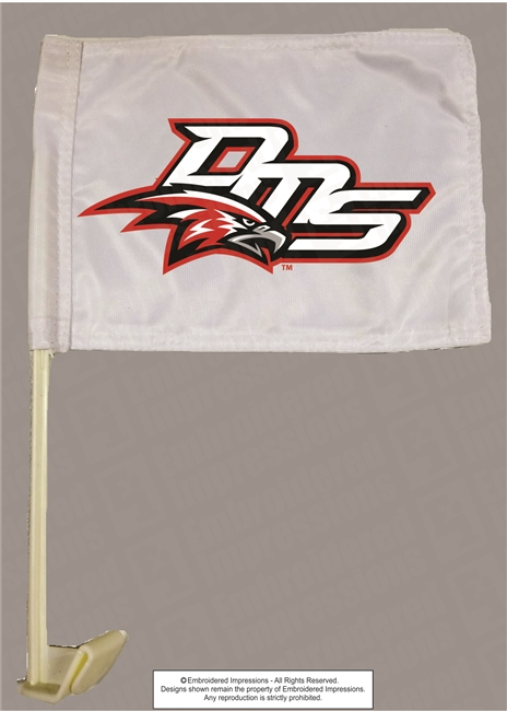 DMS Falcons Car Flag with Pole
