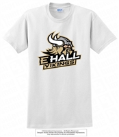 E Hall Vikings Cotton Tee