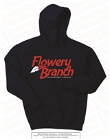 Flowery Branch Logo Embroidered Hoodie