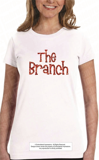 The Branch Glitter Tee