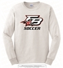 Flowery Branch Logo Soccer Long Sleeves Tee
