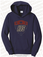 Puffy Embroidered Super Hero Shield Hoodie