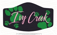 Ivy Creek Paw Three Ply Polyester Mask