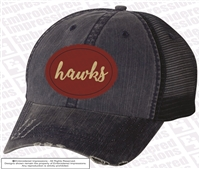 Hawks Distressed Cap in Navy