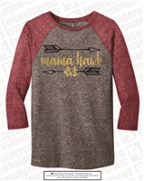 Jones Mama Hawk Baseball Tee