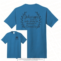 Double Sided Johnson Faith in Tennis Tee