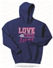 Glittered Love Them Lions Hoodie in Royal