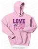 Glittered Love Them Lions Hoodie in Light Pink