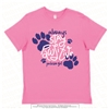Always Stay Ringspun Tee in Raspberry Adult Size