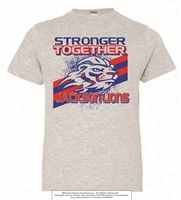 Stronger Together Tee in Heather Grey Adult Size