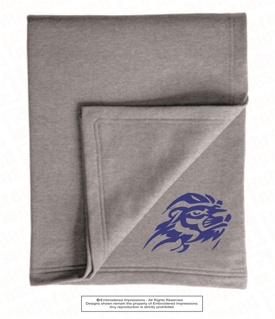 Lions Logo Embroidered in Two Color Choices