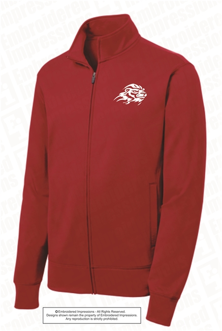 Lions Logo Wicking Full Zip Jacket in 4 Color Choices