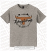 Cursive Longhorns with Arrow Circle Tee