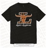 Girl Longhorns with Plaid Design Tee
