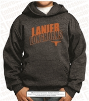 Cotton-Poly Fleece Pullover Hoodie