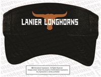Lanier Longhorns Sports Mesh Visor