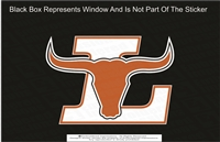 Lanier L Longhorns Logo Sticker