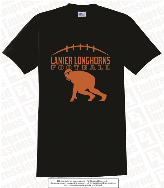 Lanier Longhorns Football Tee