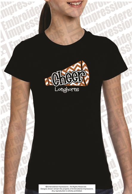 Lanier Longhorns Cheer Tee Shirt