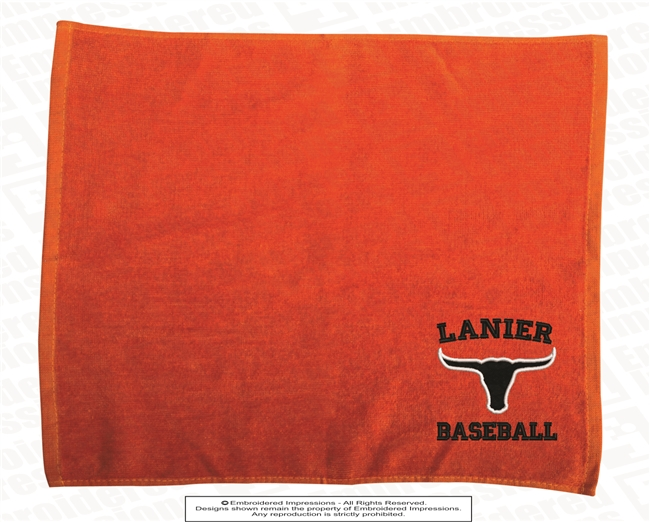 Lanier Baseball Embroidered Stadium Towel