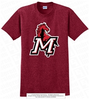 Full M Mustangs Cotton Tee