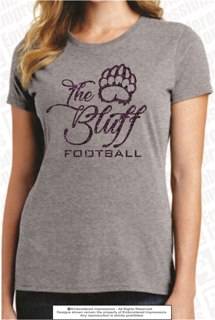 The Bluff Football Glitter Tee