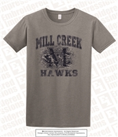 Mill Creek Hawks Distressed Tee