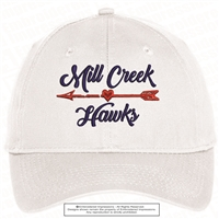 Mill Creek Hawks Arrow Heart Cap