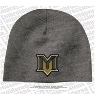 Mountain View Logo Skull Knit Beanie
