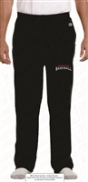 Embroidered Open Bottom Fleece Pants