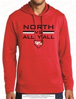North VS All Y'All Screen Printed Poly Hoodie